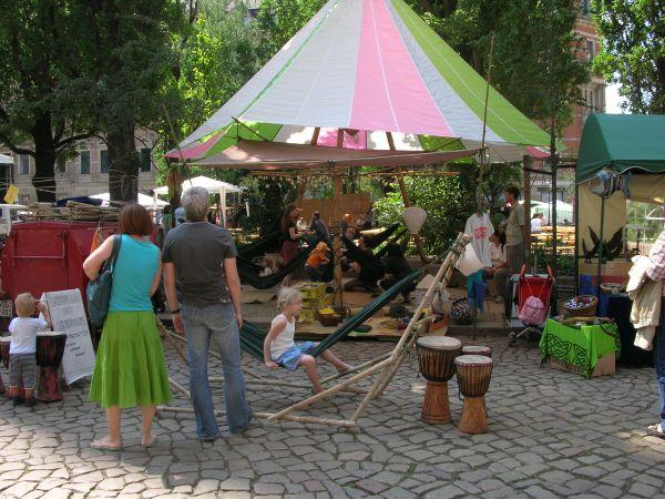 Hängemattenstand BRN Dresden 2006